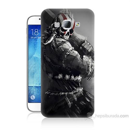Teknomeg Samsung Galaxy A8 Tribal Warrior Baskılı Silikon Kılıf