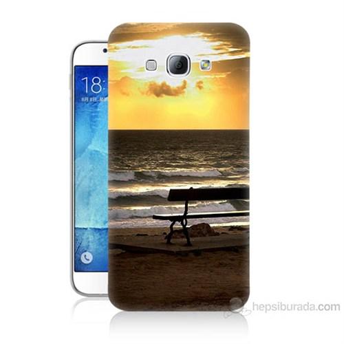 Teknomeg Samsung Galaxy A8 Gün Batımı Baskılı Silikon Kılıf