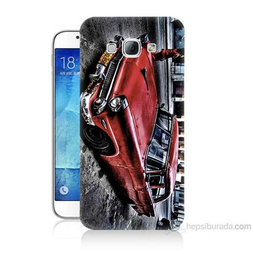 Teknomeg Samsung Galaxy A8 Klasik Araba Baskılı Silikon Kılıf