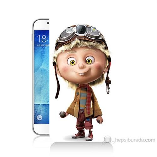 Teknomeg Samsung Galaxy A8 Çizgi Karakter Baskılı Silikon Kılıf