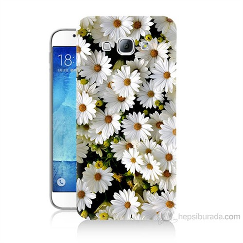 Teknomeg Samsung Galaxy A8 Papatyalar Baskılı Silikon Kılıf