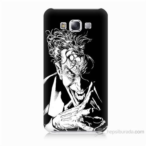 Teknomeg Samsung Galaxy E5 Gülen Joker Baskılı Silikon Kılıf