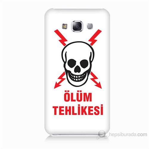 Teknomeg Samsung Galaxy E5 Ölüm Tehlikesi Baskılı Silikon Kılıf