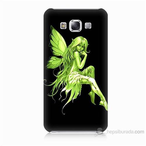 Teknomeg Samsung Galaxy E5 Peri Kızı Baskılı Silikon Kılıf
