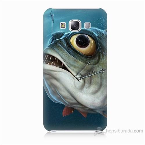 Teknomeg Samsung Galaxy E5 Balık Baskılı Silikon Kılıf