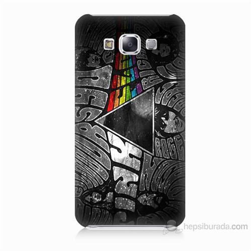 Teknomeg Samsung Galaxy E5 Pink Floyd Baskılı Silikon Kılıf