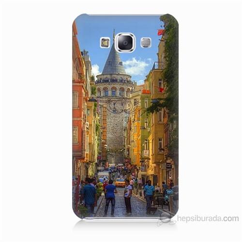 Teknomeg Samsung Galaxy E5 Galata Kulesi Baskılı Silikon Kılıf