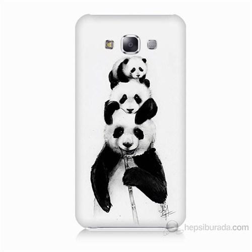 Teknomeg Samsung Galaxy E5 Panda Ailesi Baskılı Silikon Kılıf