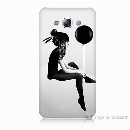 Teknomeg Samsung Galaxy E5 Balonlu Kız Baskılı Silikon Kılıf