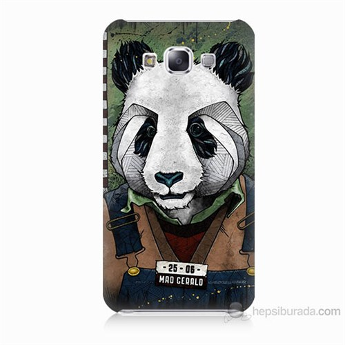 Teknomeg Samsung Galaxy E5 İşçi Panda Baskılı Silikon Kılıf