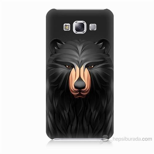 Teknomeg Samsung Galaxy E5 Boz Ayı Baskılı Silikon Kılıf