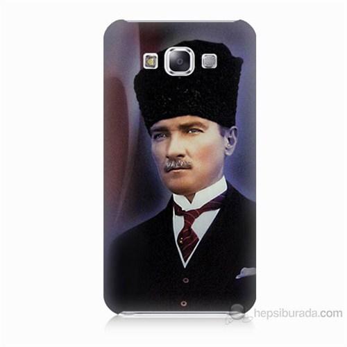 Teknomeg Samsung Galaxy E5 Mustafa Kemal Atatürk Baskılı Silikon Kılıf