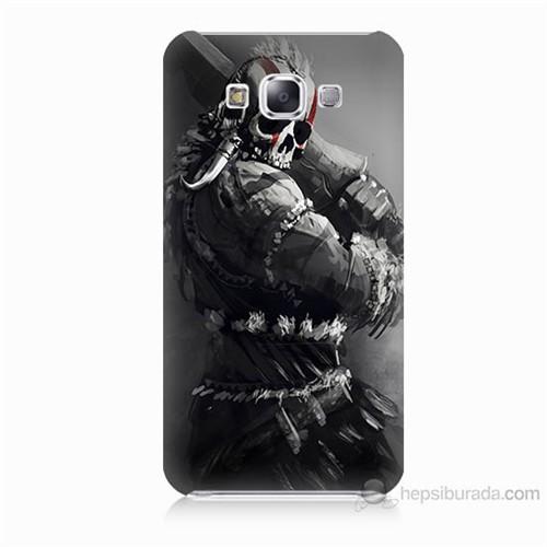 Teknomeg Samsung Galaxy E5 Tribal Warrior Baskılı Silikon Kılıf