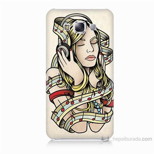 Teknomeg Samsung Galaxy E5 Müzik Aşkı Baskılı Silikon Kılıf