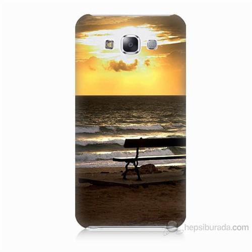 Teknomeg Samsung Galaxy E5 Gün Batımı Baskılı Silikon Kılıf