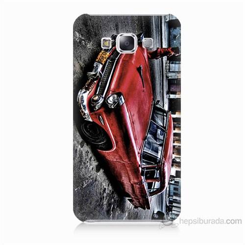 Teknomeg Samsung Galaxy E5 Klasik Araba Baskılı Silikon Kılıf