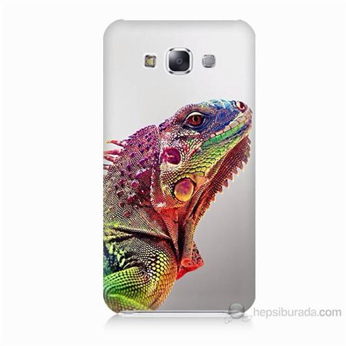Teknomeg Samsung Galaxy E5 İguana Baskılı Silikon Kılıf