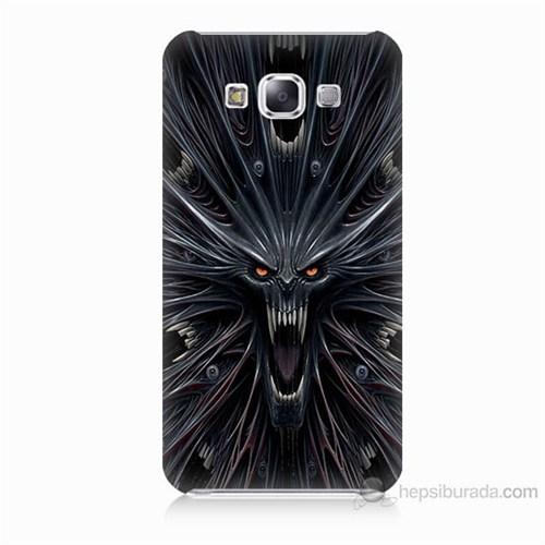 Teknomeg Samsung Galaxy E5 Korku Canavarı Baskılı Silikon Kılıf