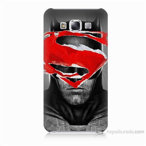 Teknomeg Samsung Galaxy E5 Batman Vs Superman Baskılı Silikon Kılıf