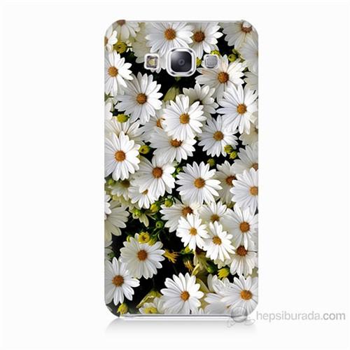 Teknomeg Samsung Galaxy E5 Papatyalar Baskılı Silikon Kılıf