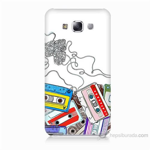 Teknomeg Samsung Galaxy E7 Kasetler Baskılı Silikon Kılıf