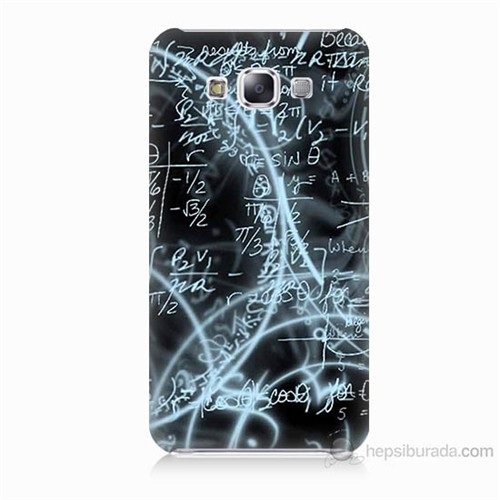 Teknomeg Samsung Galaxy E7 Matematik Baskılı Silikon Kılıf