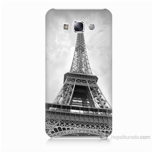 Teknomeg Samsung Galaxy E7 Eyfel Kulesi Baskılı Silikon Kılıf