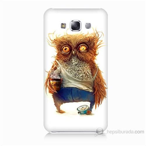 Teknomeg Samsung Galaxy E7 Miskin Baykuş Baskılı Silikon Kılıf