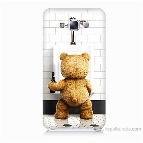Teknomeg Samsung Galaxy E7 Tedy Bear Baskılı Silikon Kılıf