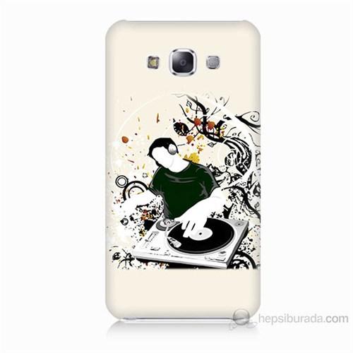 Teknomeg Samsung Galaxy E7 Disc Jokey Baskılı Silikon Kılıf