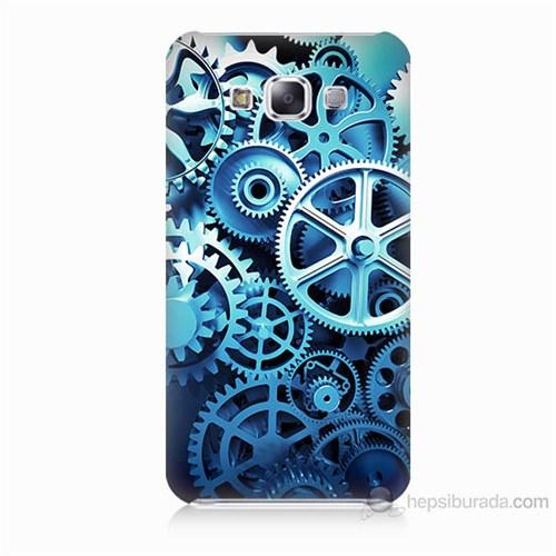 Teknomeg Samsung Galaxy E7 Çarklar Baskılı Silikon Kılıf