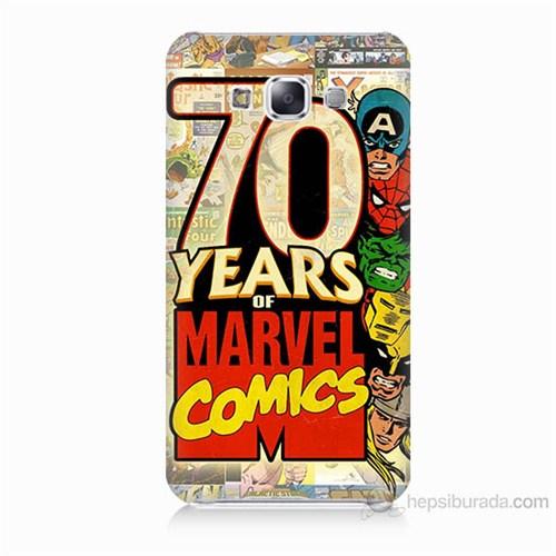 Teknomeg Samsung Galaxy E7 Marvel Karakterleri Baskılı Silikon Kılıf