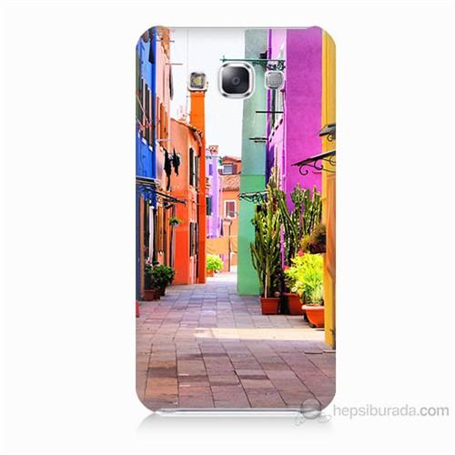 Teknomeg Samsung Galaxy E7 Sokak Baskılı Silikon Kılıf