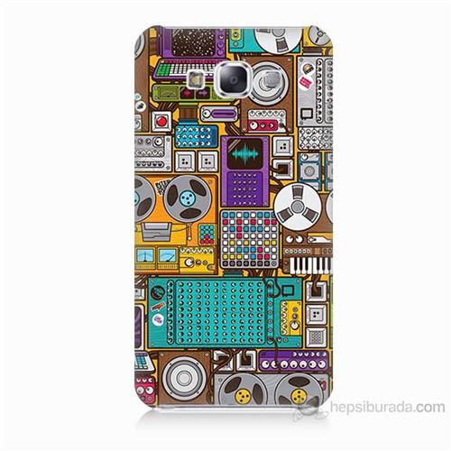 Teknomeg Samsung Galaxy E7 Teknoloji Baskılı Silikon Kılıf