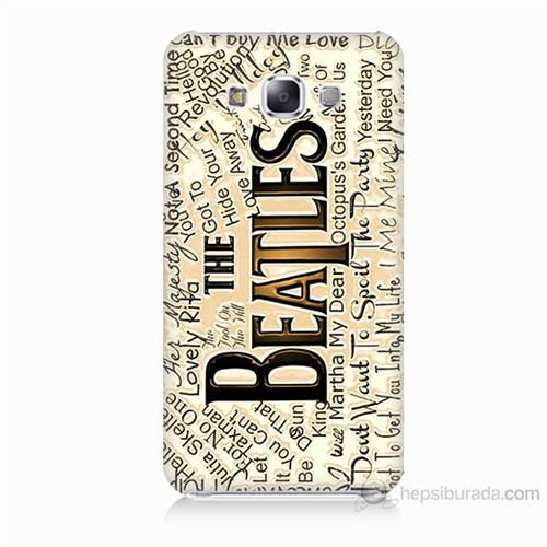Teknomeg Samsung Galaxy E7 The Beatles Baskılı Silikon Kılıf