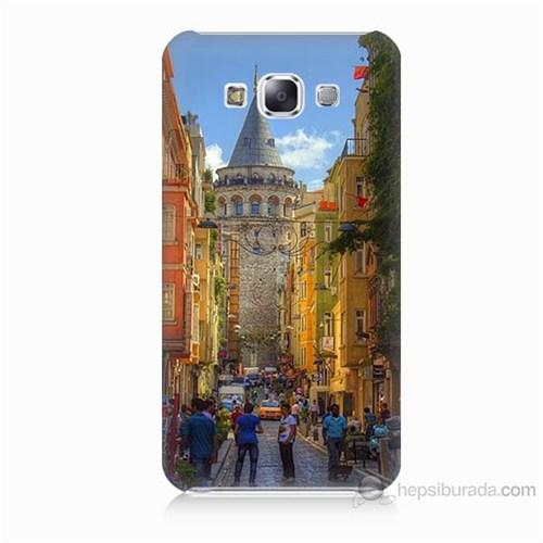 Teknomeg Samsung Galaxy E7 Galata Kulesi Baskılı Silikon Kılıf