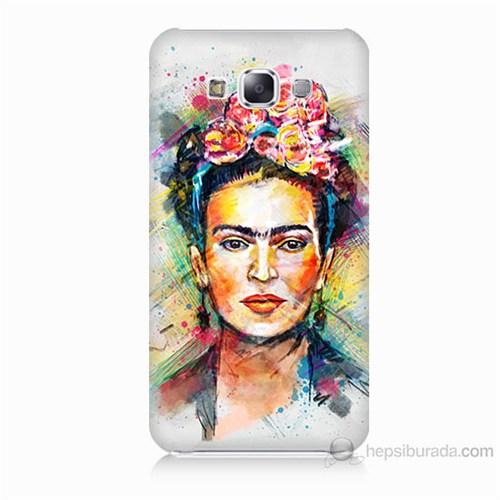 Teknomeg Samsung Galaxy E7 Frida Baskılı Silikon Kılıf