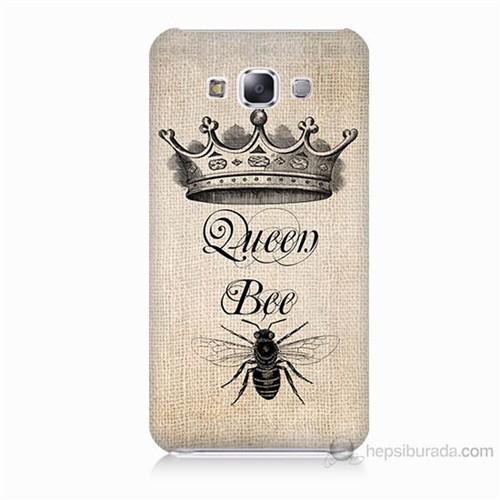 Teknomeg Samsung Galaxy E7 Queen Bee Baskılı Silikon Kılıf