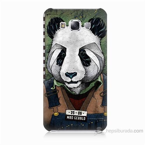Teknomeg Samsung Galaxy E7 İşçi Panda Baskılı Silikon Kılıf