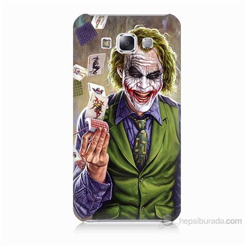 Teknomeg Samsung Galaxy E7 Kartlı Joker Baskılı Silikon Kılıf