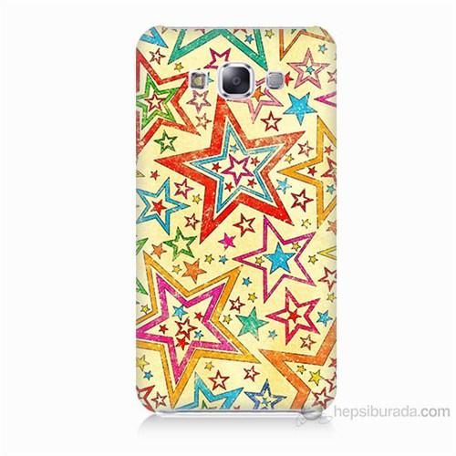 Teknomeg Samsung Galaxy E7 Yıldızlar Baskılı Silikon Kılıf