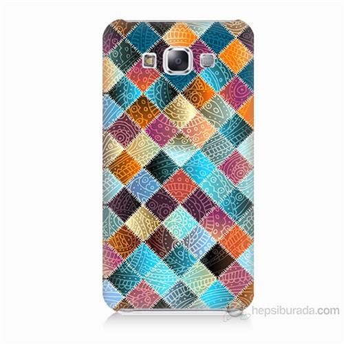 Teknomeg Samsung Galaxy E7 Kırkyama Baskılı Silikon Kılıf