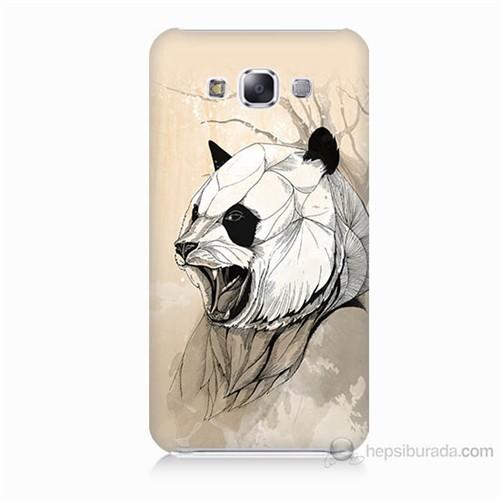 Teknomeg Samsung Galaxy E7 Kavgacı Panda Baskılı Silikon Kılıf