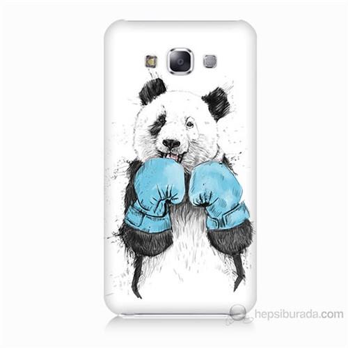 Teknomeg Samsung Galaxy E7 Boksör Panda Baskılı Silikon Kılıf
