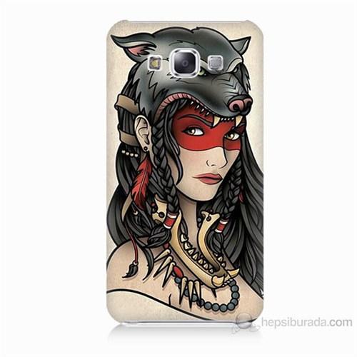 Teknomeg Samsung Galaxy E7 Pocahontas Baskılı Silikon Kılıf