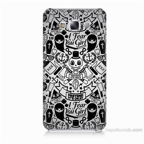 Teknomeg Samsung Galaxy E7 Karikatür Baskılı Silikon Kılıf