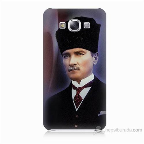 Teknomeg Samsung Galaxy E7 Mustafa Kemal Atatürk Baskılı Silikon Kılıf