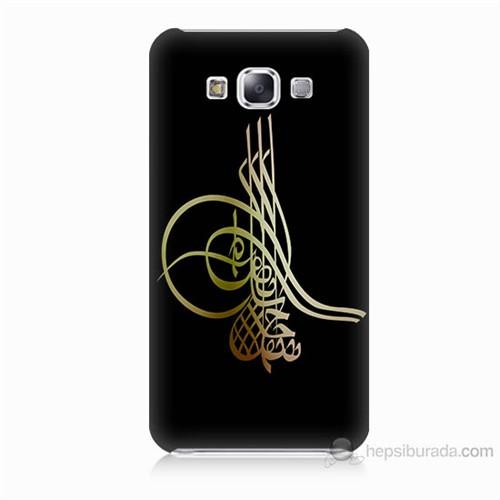 Teknomeg Samsung Galaxy E7 Tuğra Osmanlı Baskılı Silikon Kılıf