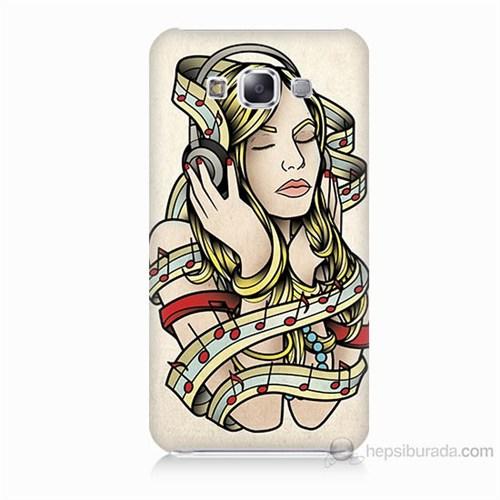 Teknomeg Samsung Galaxy E7 Müzik Aşkı Baskılı Silikon Kılıf