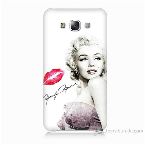Teknomeg Samsung Galaxy E7 Marilyn Monroe Baskılı Silikon Kılıf
